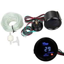 "52mm 2""  Black Cover Car Universal Digital Blue LED PSI Turbo Boost Gauge Meter"