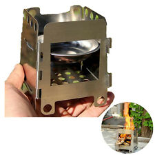Portable Lightweight Folding Wood Pocket Alcohol Stove Outdoor Cooking Camping