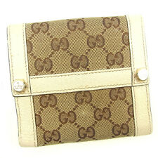 Auth Sale Gucci Double Sided Wallet GG Canvas unisexused J17632