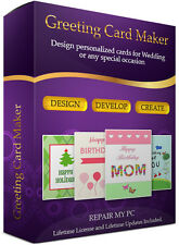 Greetings Card Maker Creator Maker Design Professional Printing DVD Software