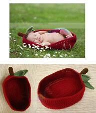 recién nacido - 12M Niña Niño De Ganchillo Tomate Cherry Saco De Dormir