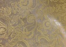 "GOLD/IVORY PAISLEY METALLIC BROCADE FABRIC  45"" WIDE 3 YARD"