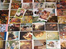 50 Stück AK Künstlerkarten Kunst Postkarten Ansichtskarten Lot Sammlung LOT08244