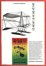 1958 Ad ~ GENERAL DYNAMICS Corporation~ Dynamic America~The Montgomery Aeroplane