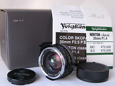 Mint! BEAUTIFUL Voigtlander Nokton 35mm f/1.4 for Leica M Mount from Japan