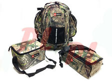 3 PC Combo Backpack Fanny Lunch Food Pack Ozark Trail Suede- Woodland Camo
