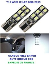 AMPOULES LED W5W T10 PEUGEOT Expert Teepee 12 LED  W5W WY5W CANBUS
