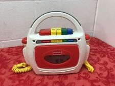 Playskool Sing A Long Tape Recorder Dual Microphones Cassette Player