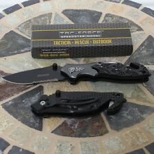 Tac Force Speedster Blade Skull Gray/Black Tactical Rescue Folding Pocket Knife