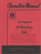 FARMALL CUB Tractor Owners Operators Manual McCORMICK