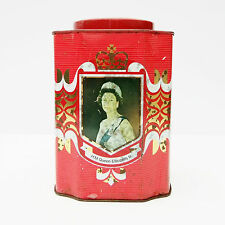 Vintage Queen Elizabeth II Silver Jubilee Tea Caddy Tin