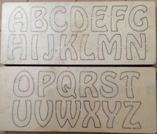 "Hobo Font 2"" Uppercase wooden die fits Sizzix,Big shot ,Big shot pro machines"