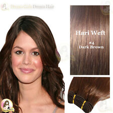 "AAA India Remy 100% Human #4 Hair Extension WEFT 17"" Double Drawn SALON SUPPLY"