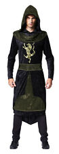 Medieval Prince Con Capucha Bata Fancy Dress Costume Game Of Thrones Nuevo