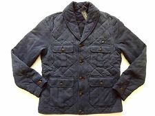 Ralph Lauren Polo 100% Cotton Faded Navy Blue Cardigan Sweater Jacket SLIM sz XL