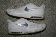 Nike Air Max shoes 10.5 mens 44.5 European white & silver gray ten 1/2 men man