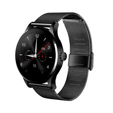 "K88H 1.22"" Heart Rate Monitor Bluetooth Smart Watch for iOS Android Steel Black"