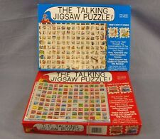The Talking Jigsaw Puzzle Lot of 2 Vintage Puzzles Two-Sided 1991 Buffalo Games