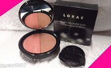 New LORAC Blush Bronzer Duo ~HOT & SPICY~ Fresh Sun Kissed Glow FULL SIZE Makeup