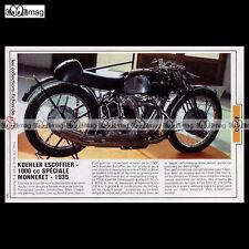 #TP Fiche Moto KOEHLER ESCOFFIER 1000 cc SPECIALE MONNERET 1935