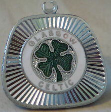 CELTIC Vintage Club crest type Pendent / Key ring in chrome 32mm x 29mm