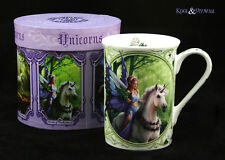 "Anne Stokes Bone China Mug Cup: ""Realm of Enchantment"" Fairy with Unicorn"