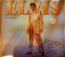 ELVIS PRESLEY CALENDAR YEAR 2000 FOR SIXTEEN MONTHS  3/4 Sealed