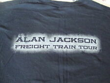 ALAN JACKSON Freight Train Local Road Crew country Concert Tour Mens T shirt XL