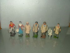 BRITAINS ETC PRE-WAR PAINTED LEAD Shepherd FARM WIFE MILKMAID FARMER JOB LOT 7
