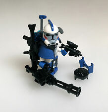 "Lego Star Wars Custom 501. ARC Clone Trooper A-17 ""Alpha"" + Custom Guns & Helmet"
