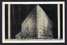 PLANKINTON HOUSE MILWAUKEE WISCONSIN*300 ROOMS BATH & RADIO*AIR COND DINING ROOM