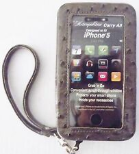 New iPhone 5 Carry All Wristlet Phone Case Organizer Wallet Gray