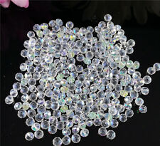 DIY Jewelry 100pcs White AB #5040 3x4mm Faceted Gems Loose Beads Crystal Beads #