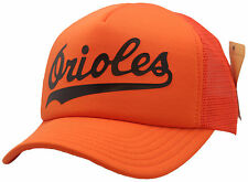 Baltimore Orioles Script Trucker Mesh Snapback Cooperstown Collection 8406