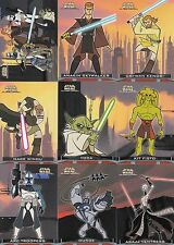 STAR WARS CLONE WARS 2004 TOPPS COMPLETE BASE CARD SET OF 90