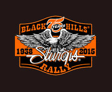 2015 STURGIS RALLY 75th Anniversary Downwing Eagle 4 INCH BIKER PATCH