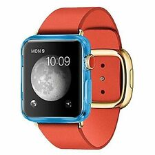 Matte Blue TPU Silicone Gel Protection Case Cover Apple Watch Smart Watch 38mm