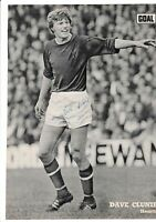 DAVE CLUNIE HEART OF MIDLOTHIAN 1966-1977 ORIGINAL HAND SIGNED PICTURE CUTTING