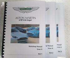 Aston MARTIN v8 Vantage Workshop Manuale a4 Full Colour Issue 8 - 05 a 13 Modelli