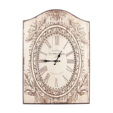 Shabby Chic Distressed Vintage Style Printed Wooden Wall Clock - NEW