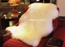 Genuine Real Australian SINGLE Pelt Large Sheepskin Rug 2ft+ x 3.5ft