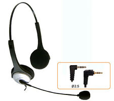 H20D headset 2.5mm plug for PANASONIC KX-DT321 333 343 & Linksys SPA 921 922 941