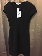 NWT DVF DIANE VON FURSTENBERG NORMA SHEATH DRESS LITTLE BLACK FITTED SZ 0