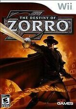 THE DESTINY OF ZORRO FOR THE WII NEW AND FACTORY SEALED a+ collectable game
