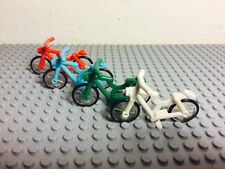 Lego X4 New City Town Lot Green,azure,red,white Color Bicycle / Riding Cycle