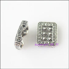 3Pcs Tibetan Silver 2-Hole Spacer Bar Beads Charms Connectors 12x15mm