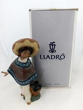Retired Lladro Gres Panchito -12141-With Hat And Water Jug Mint Boxed