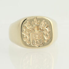 Family Crest Signet Ring - 14k Yellow Gold Tilghman Tilman