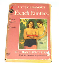 FAMOUS FRENCH PAINTERS-Wechsler paperback CARDINAL 1952 pocket book