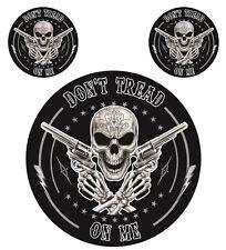 Aufkleber Set Dead Slinger Don´t Tread on me Skull Revolver Sticker Set 12 cm